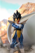 Preview iPhone wallpaper Dragon Ball Z, Super Saiyan, 3D anime