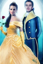 Preview iPhone wallpaper Emma Watson, Dan Stevens, Beauty and the Beast