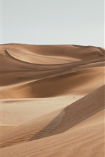 Preview iPhone wallpaper Emptiness desert, sands