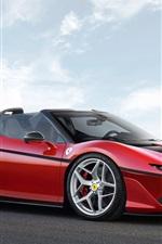 Preview iPhone wallpaper Ferrari J50 red supercar 2017