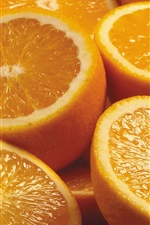 Preview iPhone wallpaper Fruit, oranges, sliced