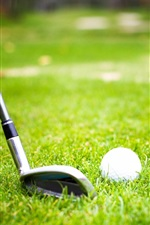 Preview iPhone wallpaper Golf, ball, grass