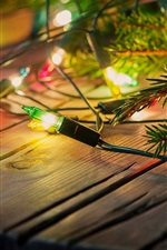 Preview iPhone wallpaper Holiday lights, decoration