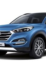 iPhone fondos de pantalla Hyundai Tucson azul SUV coche