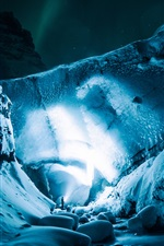Preview iPhone wallpaper Ice cave, light