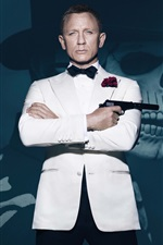 Preview iPhone wallpaper James Bond, white clothes, 007