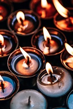 Preview iPhone wallpaper Many candles, flame
