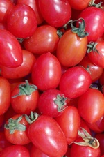 Preview iPhone wallpaper Many red cherry tomatoes