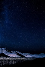 Preview iPhone wallpaper Nebraska, USA, mountains, night, stars