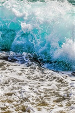 Preview iPhone wallpaper Ocean, coast, sea waves, splash, foam