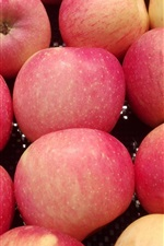 Preview iPhone wallpaper Red apples close-up, shop