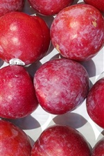 Preview iPhone wallpaper Red plums, fruit photography