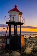 Rogaland, Norway, coast, sea, stones, sunset