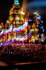 Preview iPhone wallpaper Russia, Moscow, beautiful city night, lights, movement