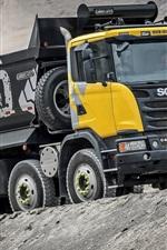 Preview iPhone wallpaper Scania G440 dump truck