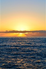 Preview iPhone wallpaper Sea, clouds, sunset, nature landscape