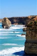iPhone fondos de pantalla Mar, océano, piedras, naturaleza