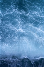 Preview iPhone wallpaper Sea wave, foam