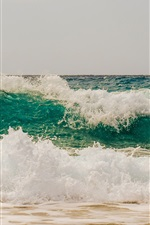 Preview iPhone wallpaper Sea waves, foam, coast, water