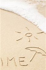 Preview iPhone wallpaper Summer time, beach, waves