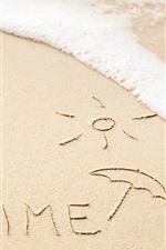 미리보기 iPhone 배경 화면 하계의 시간, 해변, 파도