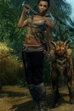The Elder Scrolls V: Skyrim, menina e lobo