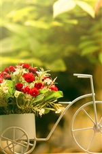 Preview iPhone wallpaper Toy bike, rose, decoration