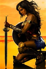 Preview iPhone wallpaper Wonder Woman, Gal Gadot, DC comics