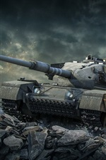 Preview iPhone wallpaper World of Tanks, stones, xbox games