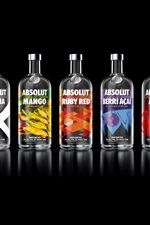 Preview iPhone wallpaper Absolut Vodka many variety taste