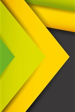 Preview iPhone wallpaper Abstract lines, stripes, yellow and green
