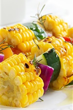 Preview iPhone wallpaper BBQ, corn, vegetables, food
