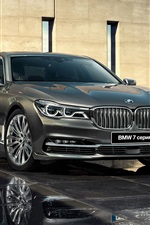 Preview iPhone wallpaper BMW 7 Series G12 grey car front view