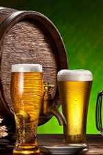 Beer, drinks, glass cups, wheat