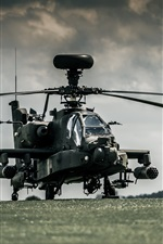 Preview iPhone wallpaper Boeing AH-64 Apache helicopters