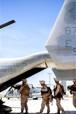 Preview iPhone wallpaper Boeing V-22 Osprey plane side view