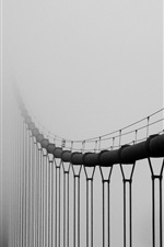 Preview iPhone wallpaper Bridge in the fog, mist