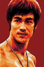 Preview iPhone wallpaper Bruce Lee, art picture