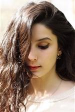 Brunette curls girl, lovely