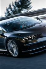 Preview iPhone wallpaper Bugatti Chiron 2016 supercar high speed