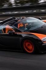 Preview iPhone wallpaper Bugatti Veyron Grand Sport roadster speed