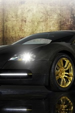 Preview iPhone wallpaper Bugatti Veyron black supercar