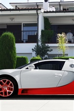 Preview iPhone wallpaper Bugatti Veyron supercar, white and red color