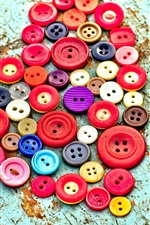 Preview iPhone wallpaper Buttons love heart