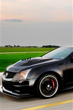 Preview iPhone wallpaper Cadillac CTS V black car speed