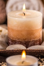 Preview iPhone wallpaper Candles, fire, flame, stones