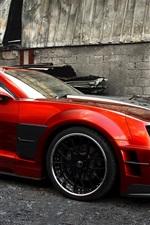 Chevrolet Camaro Guyver red sport car side view