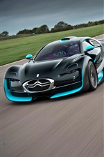 Preview iPhone wallpaper Citroen supercar and motorcycle speed
