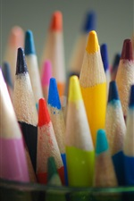 Preview iPhone wallpaper Colored pencils, colorful, sharpened