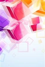 Colorful 3D cubes background